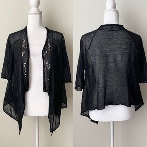 Free People black cardigan.